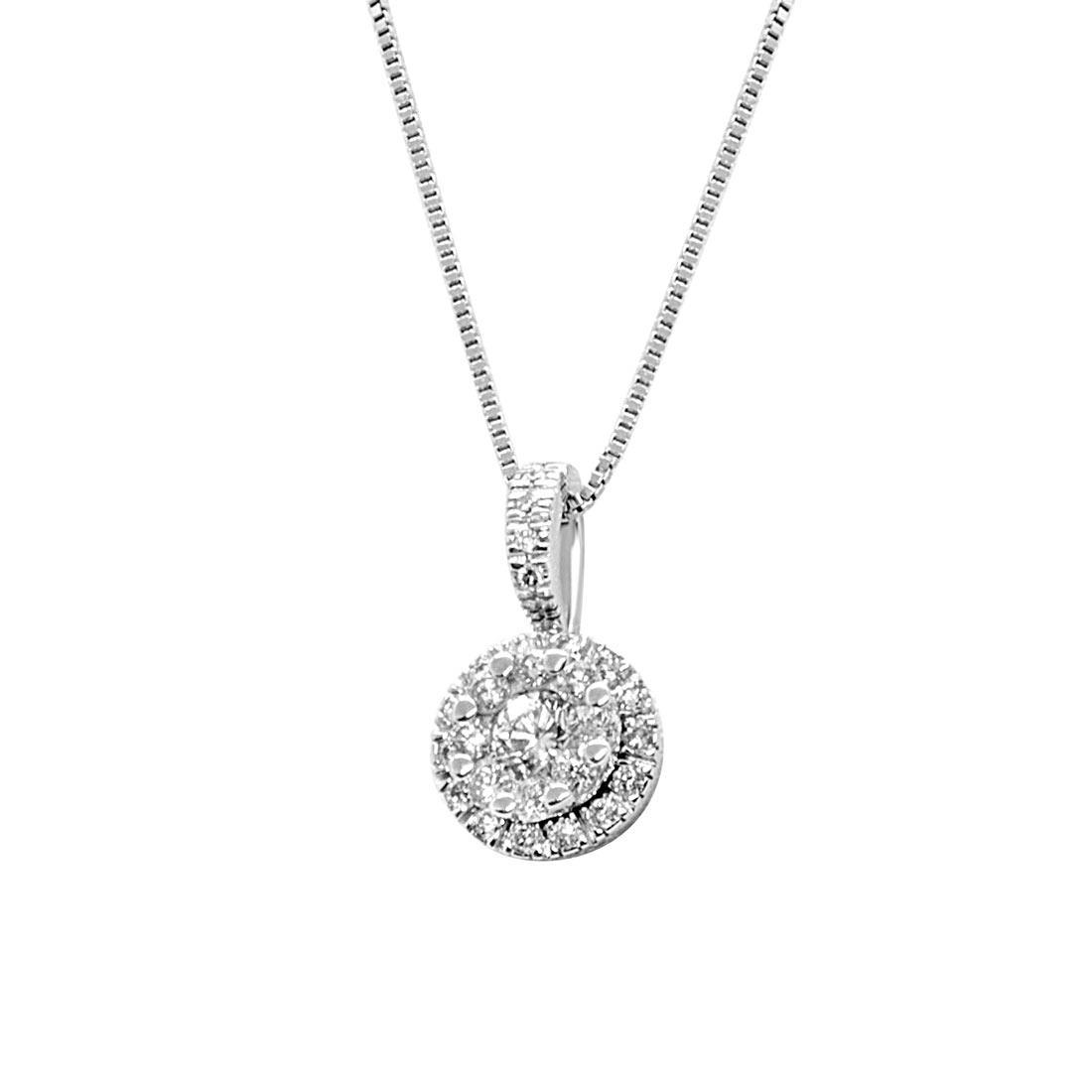 Collana in oro bianco e diamanti ct 0,41 - ALFIERI ST JOHN