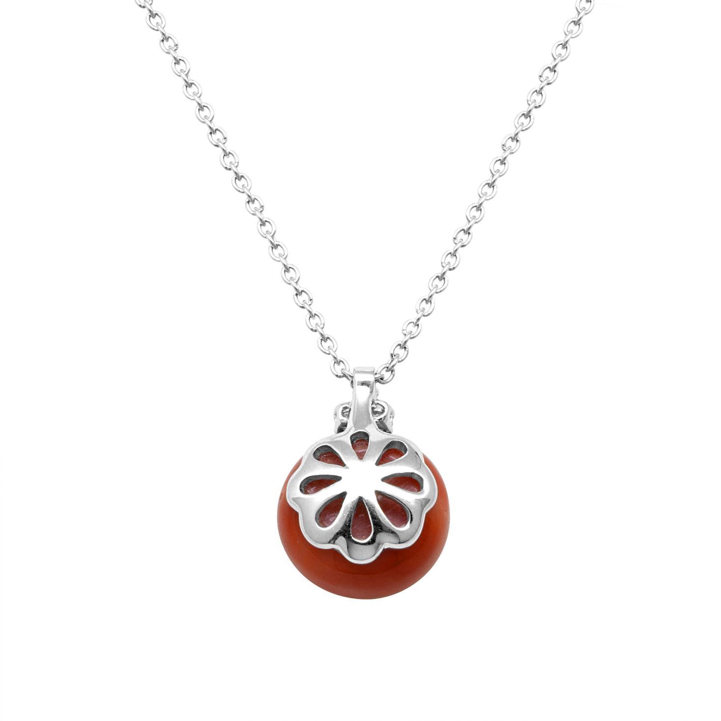Collana in oro bianco con pendente e diamanti ct 0.07 - ALFIERI & ST. JOHN