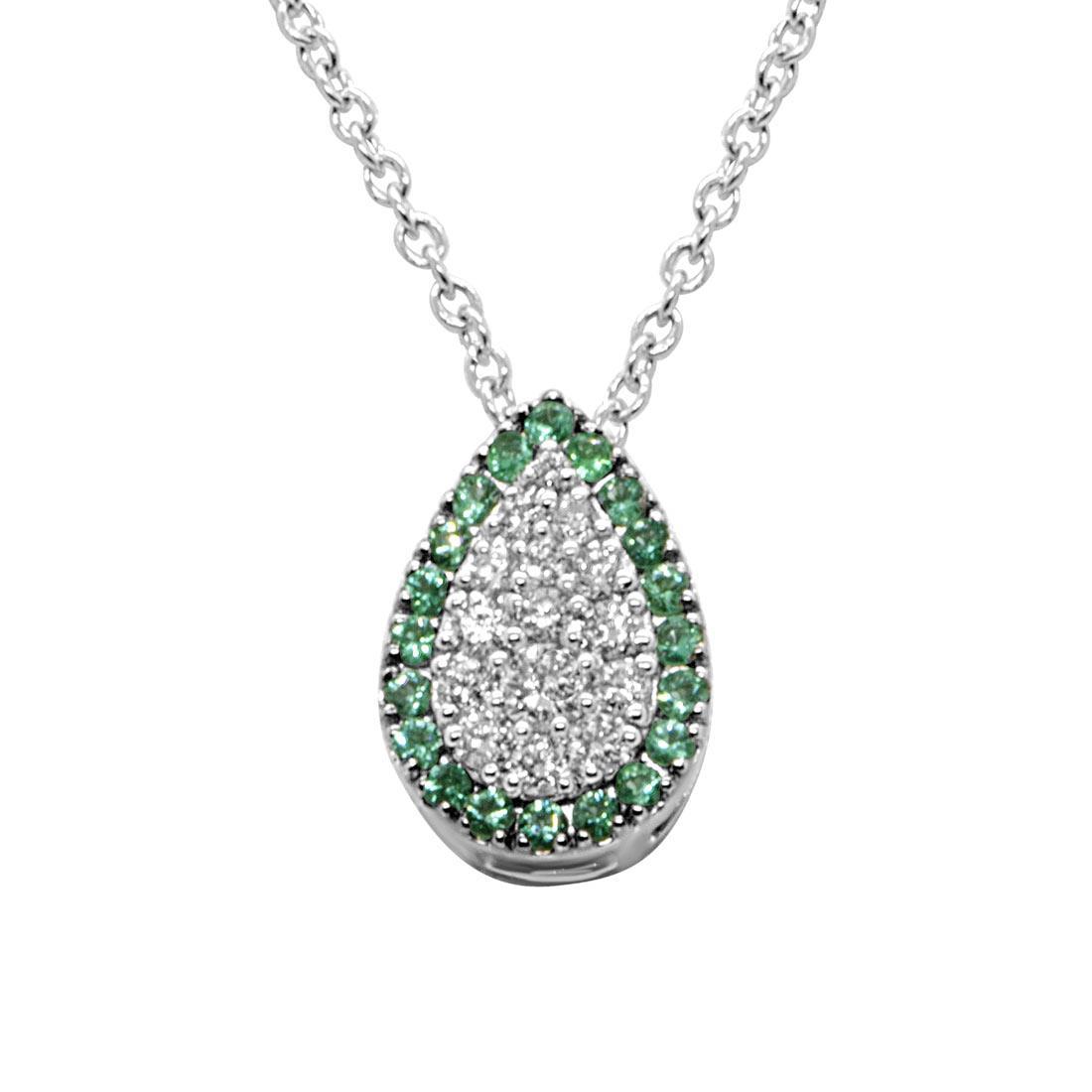 Collana Alfieri & St john con diamanti e smeraldi - ALFIERI ST JOHN