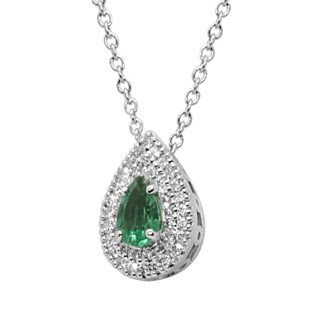 Collana Alfieri & St john con diamanti e smeraldo - ALFIERI ST JOHN
