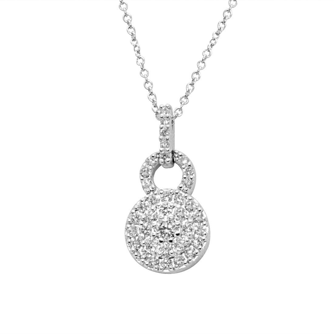 Collana in oro bianco con diamanti 0,45 ct  - ALFIERI & ST. JOHN