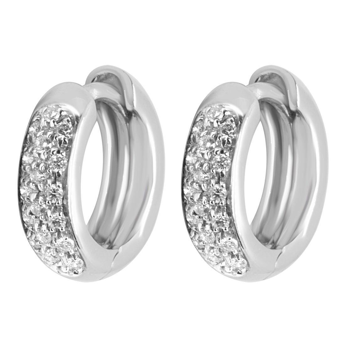 Orecchini in oro bianco e diamanti - ALFIERI & ST. JOHN
