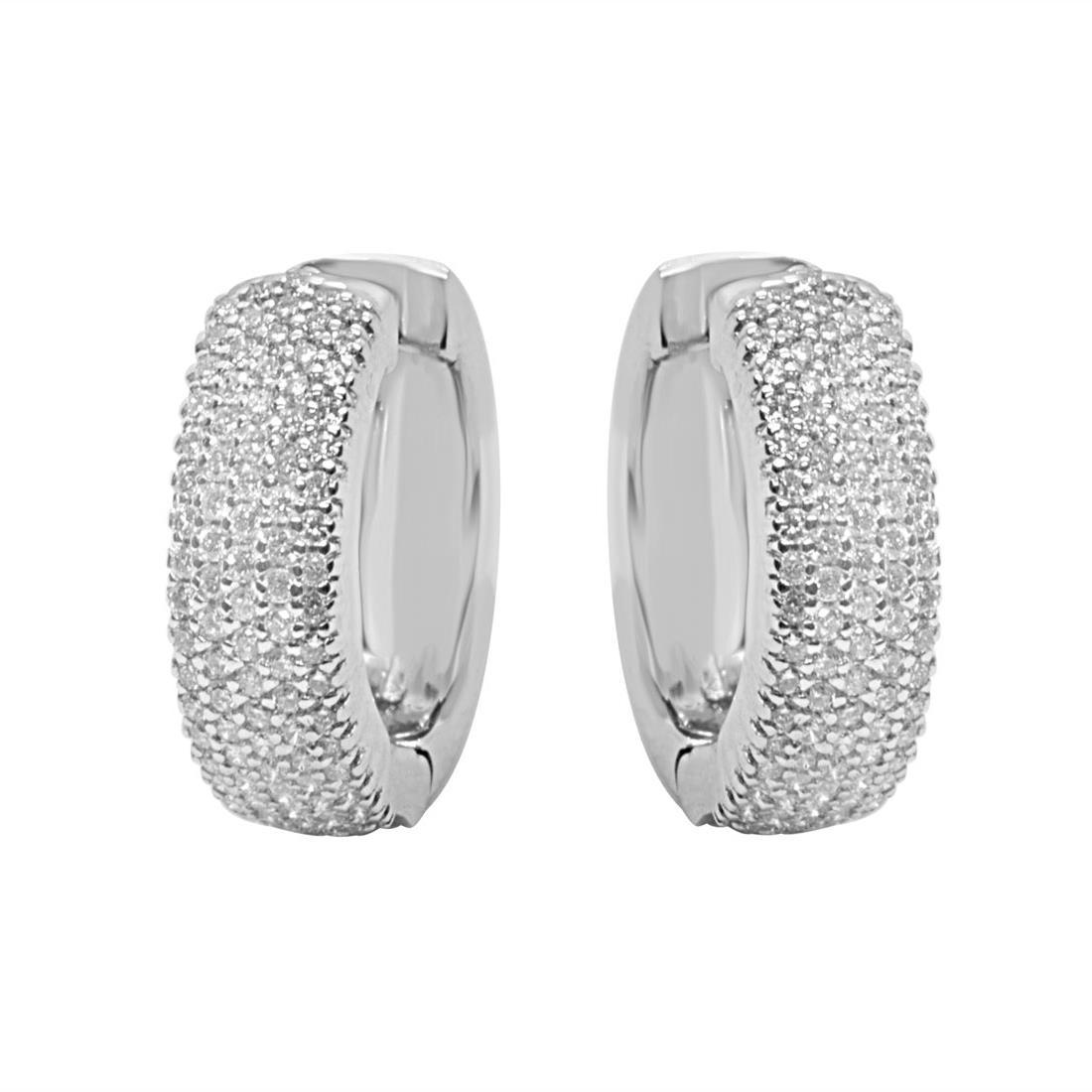 Orecchini Alfieri & St John con diamanti ct 0.69 - ALFIERI ST JOHN