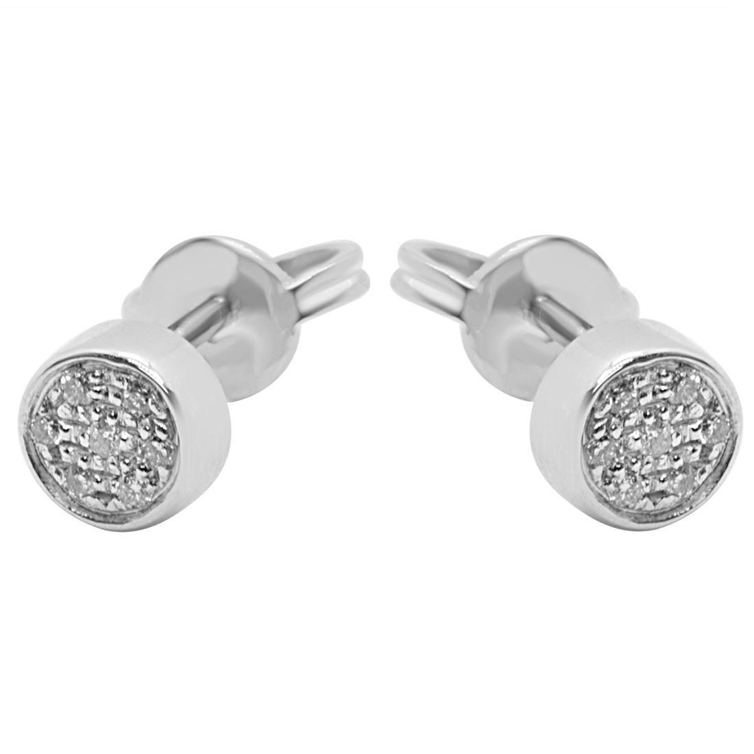 Orecchini in oro bianco con diamanti ct 0.07 - ALFIERI & ST. JOHN