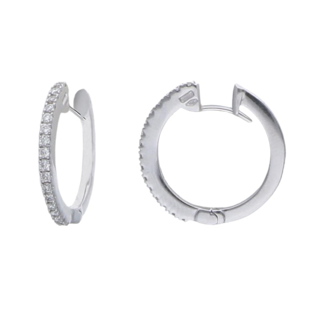 Orecchini a cerchio con diamanti ct. 0,38 - ALFIERI & ST. JOHN