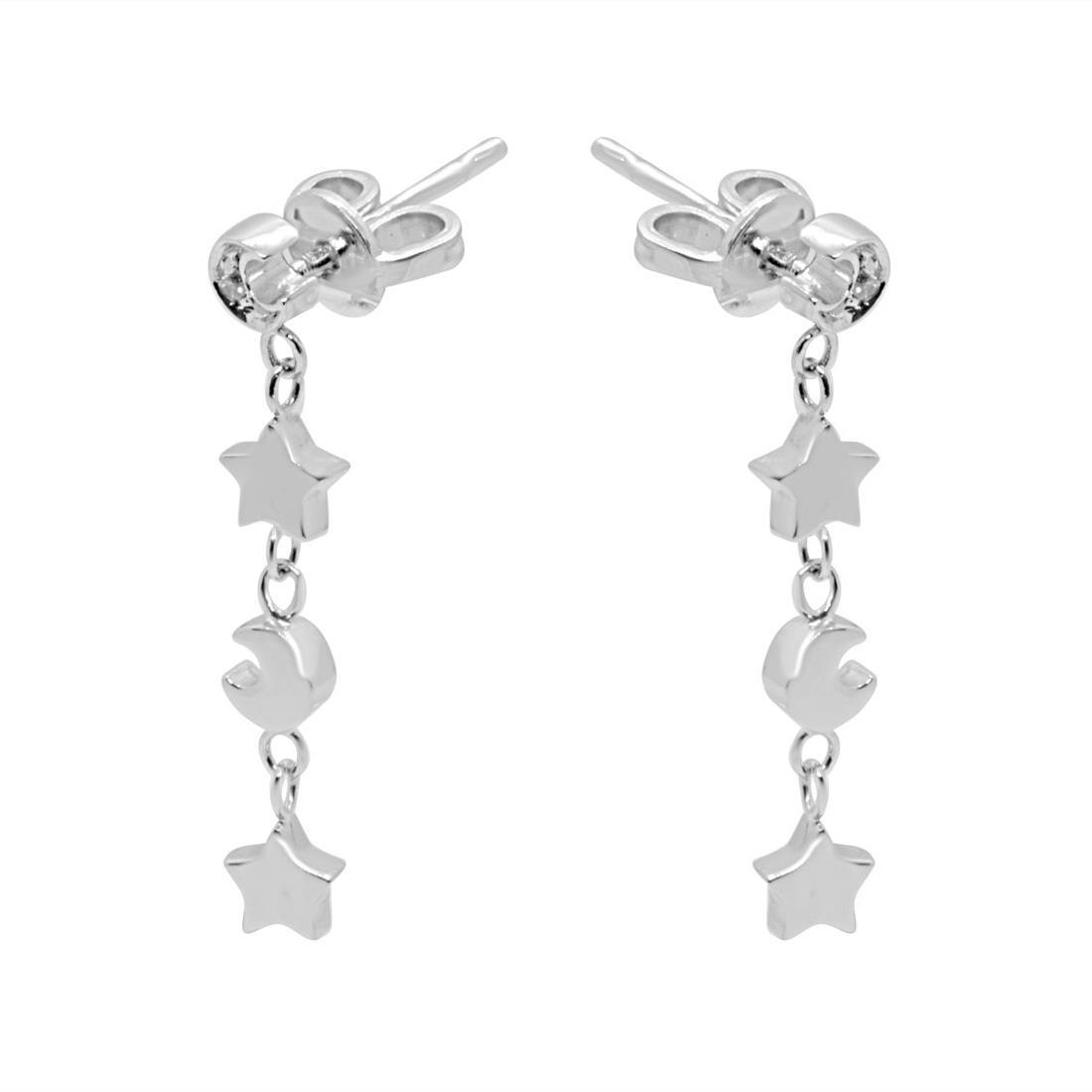 Orecchini in oro bianco con diamanti - ALFIERI & ST. JOHN