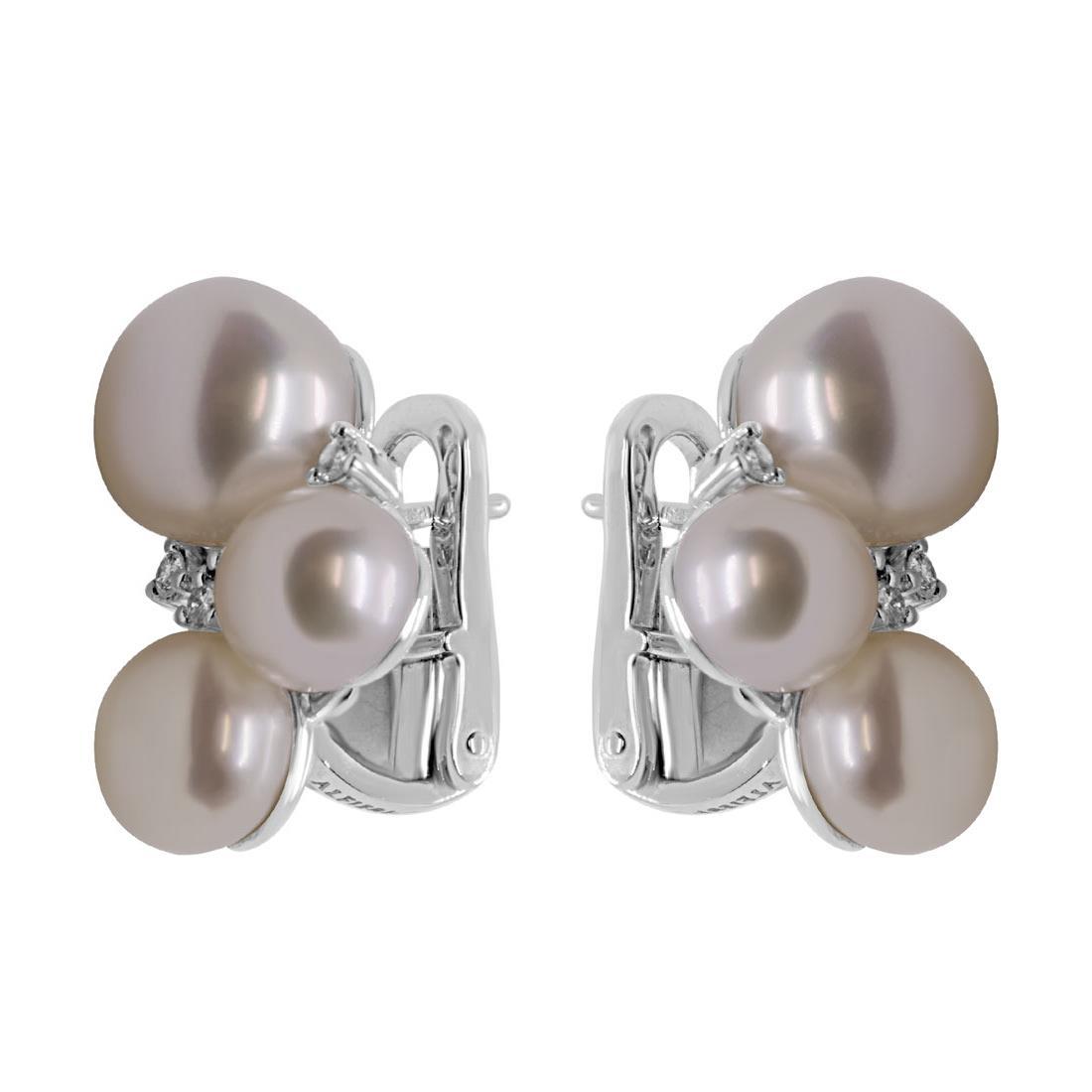 Orecchini Alfieri & St Joh con perle e diamanti ct 0,16 - ALFIERI & ST. JOHN