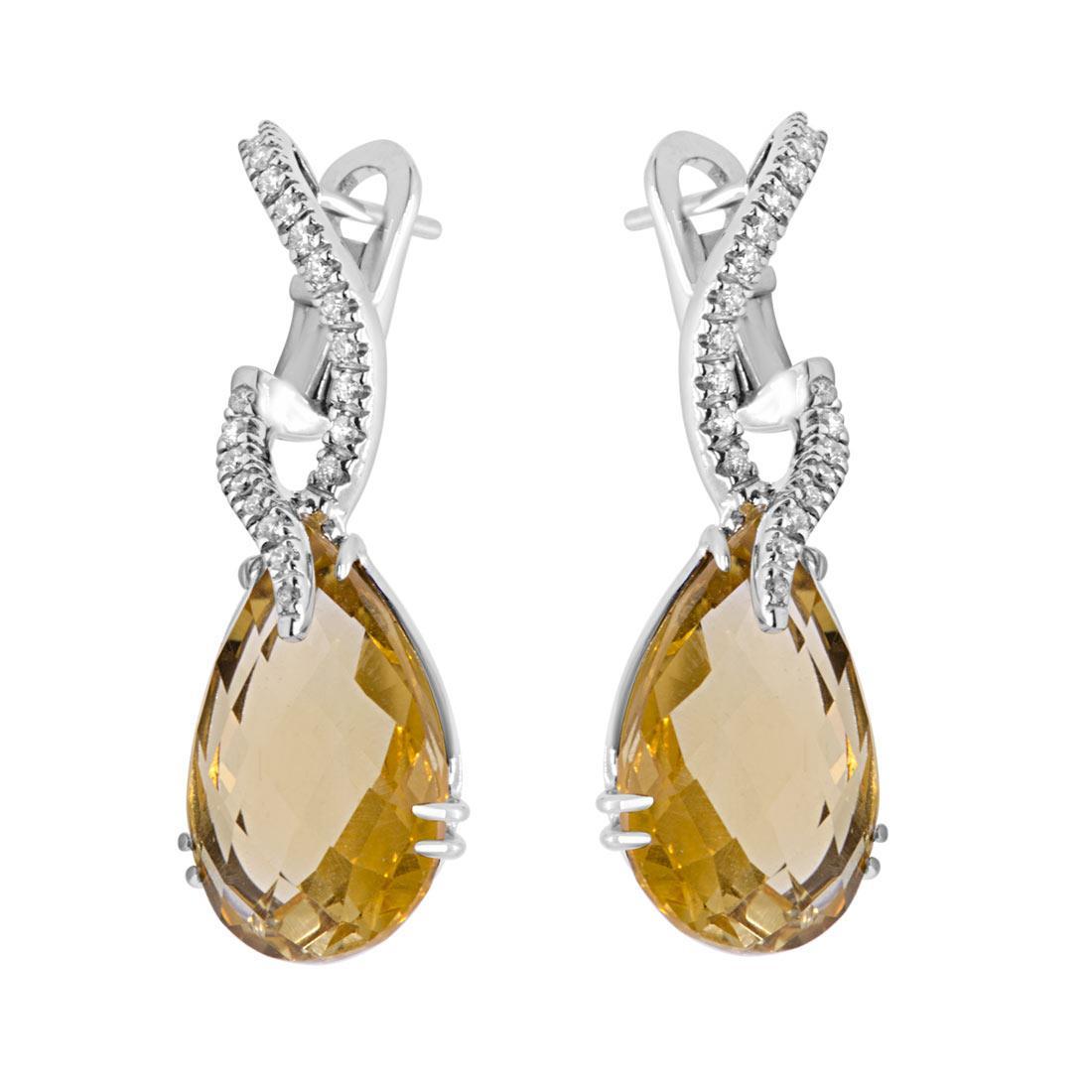 Orecchini Alfieri & St John con diamanti e pietre semipreziose - ALFIERI & ST. JOHN