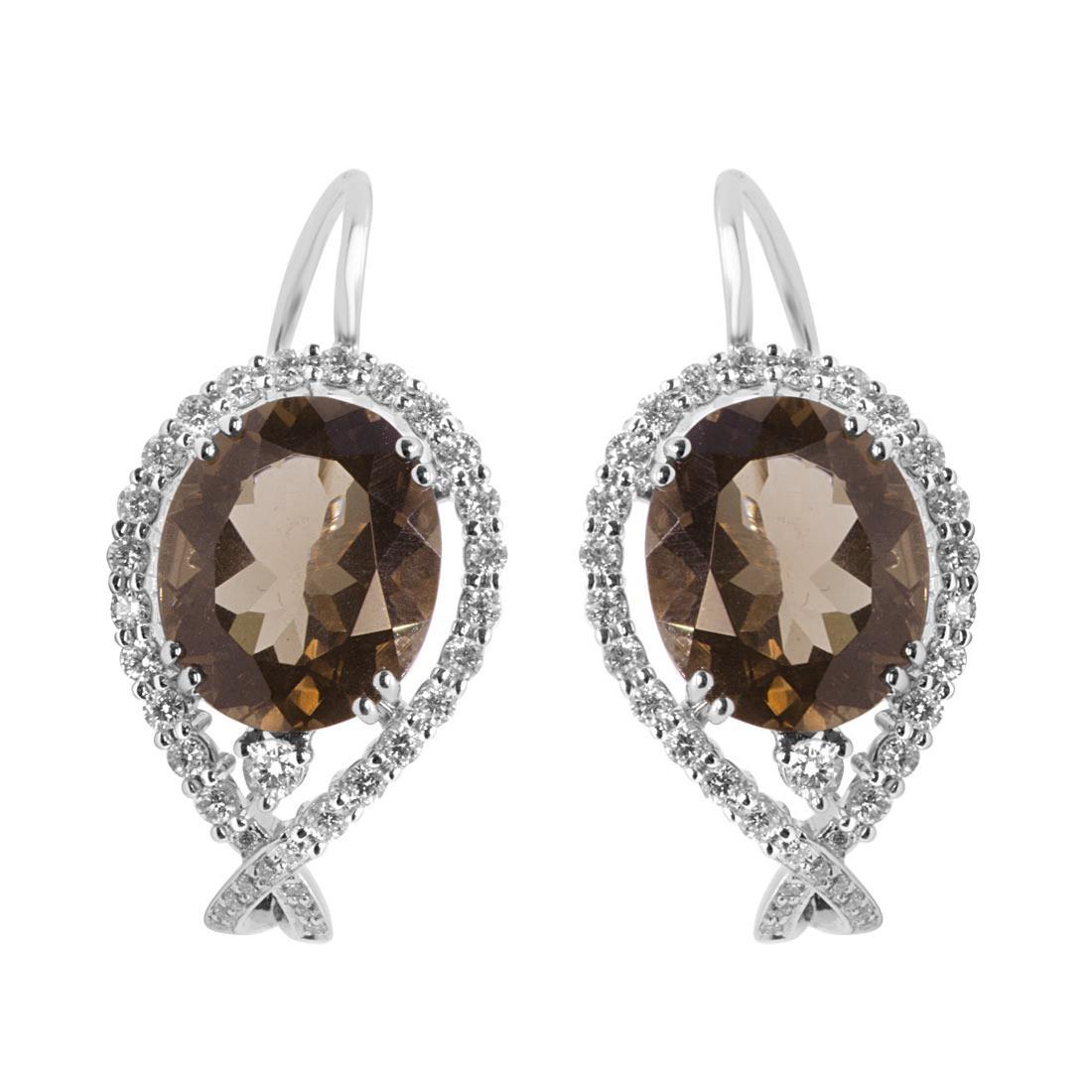 Orecchini Alfieri & St John con diamanti ct 0,74 e quarzo - ALFIERI & ST. JOHN