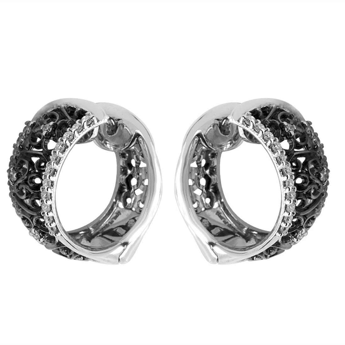 Orecchini Alfieri & St John con diamanti ct 0,43 - ALFIERI ST JOHN