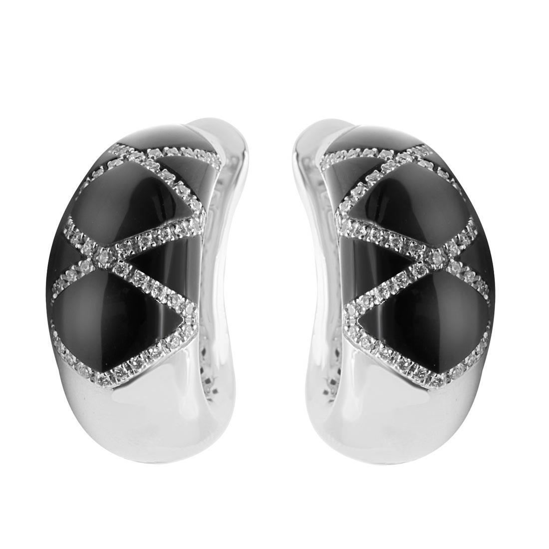 Orecchini Alfieri & St John in oro bianco con diamanti ct 0,55 - ALFIERI & ST. JOHN
