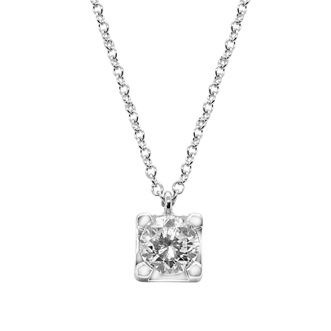 Collier punto luce in oro bianco con diamante 1,38 ct - ALFIERI ST JOHN