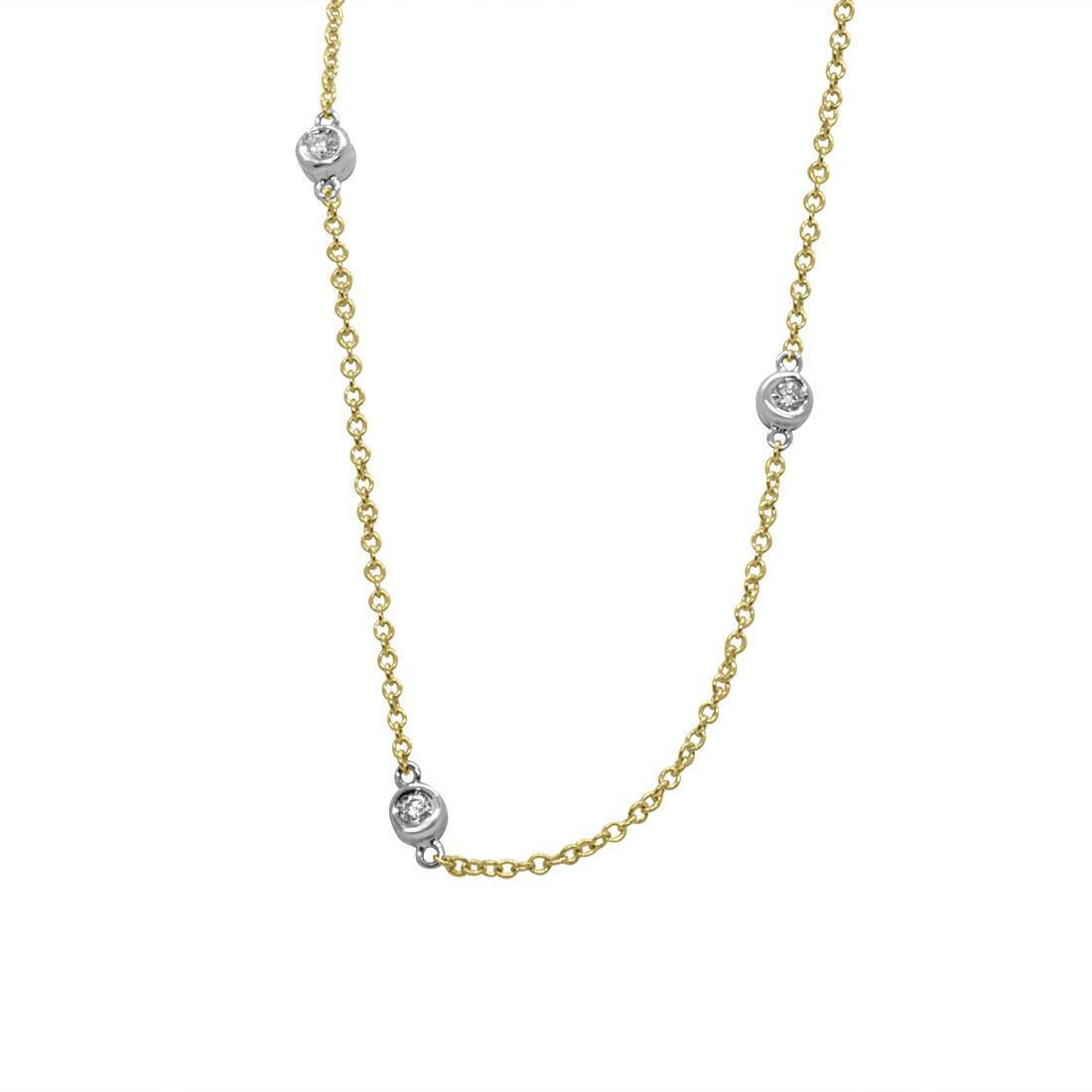 Collier in oro giallo con diamanti 0,50 ct - ORO&CO