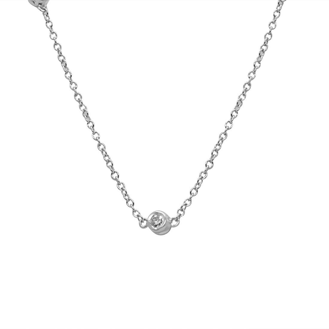 Collier in oro bianco con diamanti 0,30 ct - ORO&CO