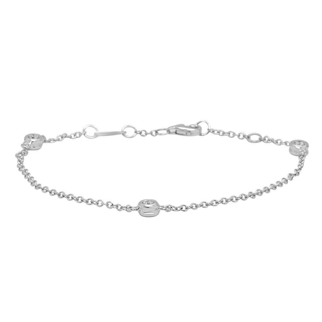 Bracciale in oro bianco con diamanti 0.30 ct - ORO&CO