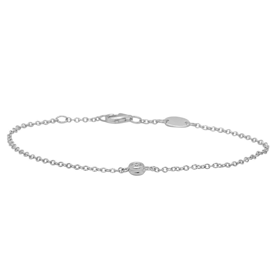 Bracciale in oro bianco con diamanti 0.10 ct - ORO&CO