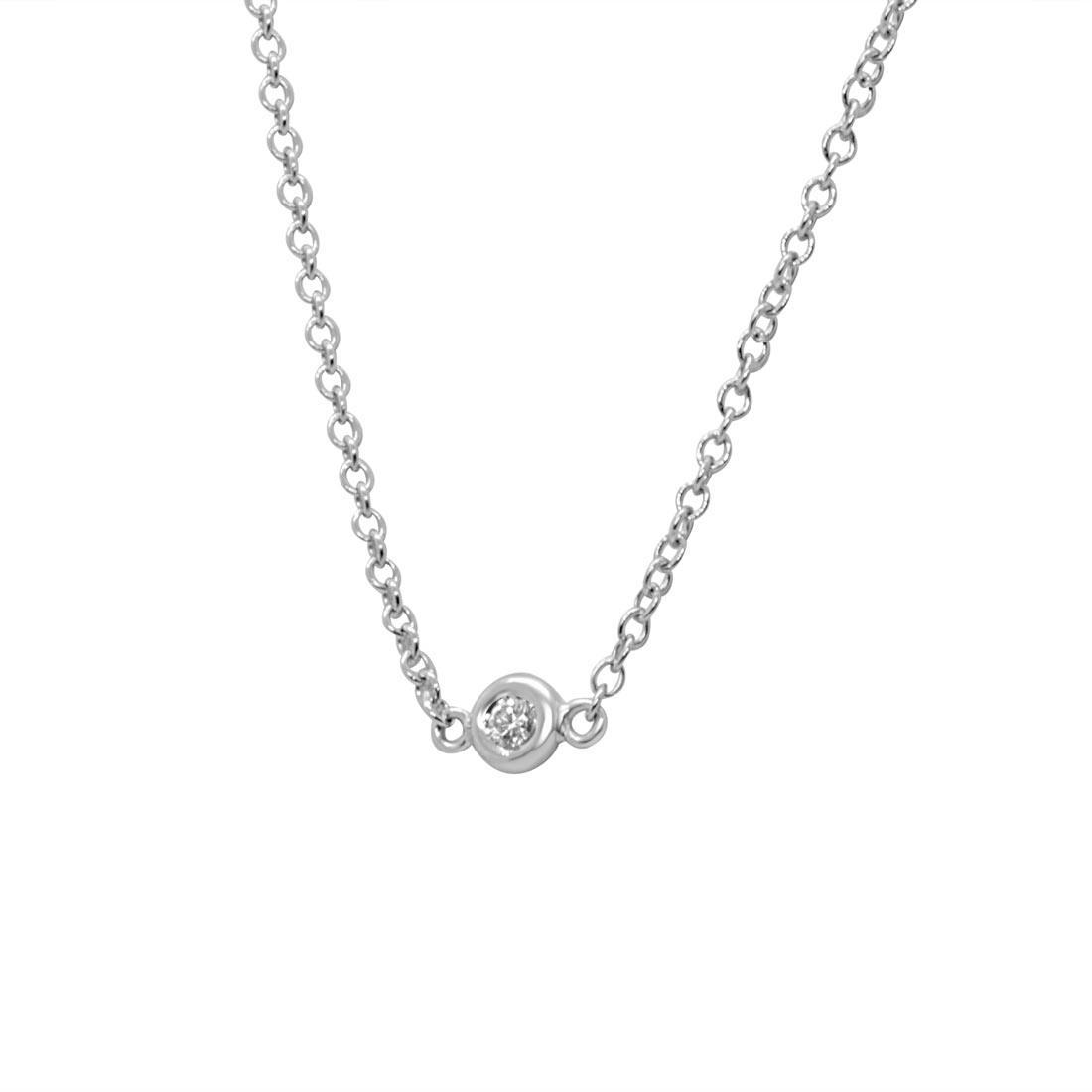 Collie punto luce con diamante 0.05 ct - ORO&CO