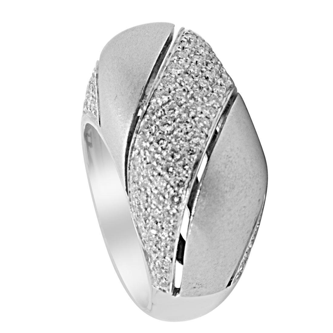 Anello Damiani in oro bianco con diamanti ct 1,09 - DAMIANI