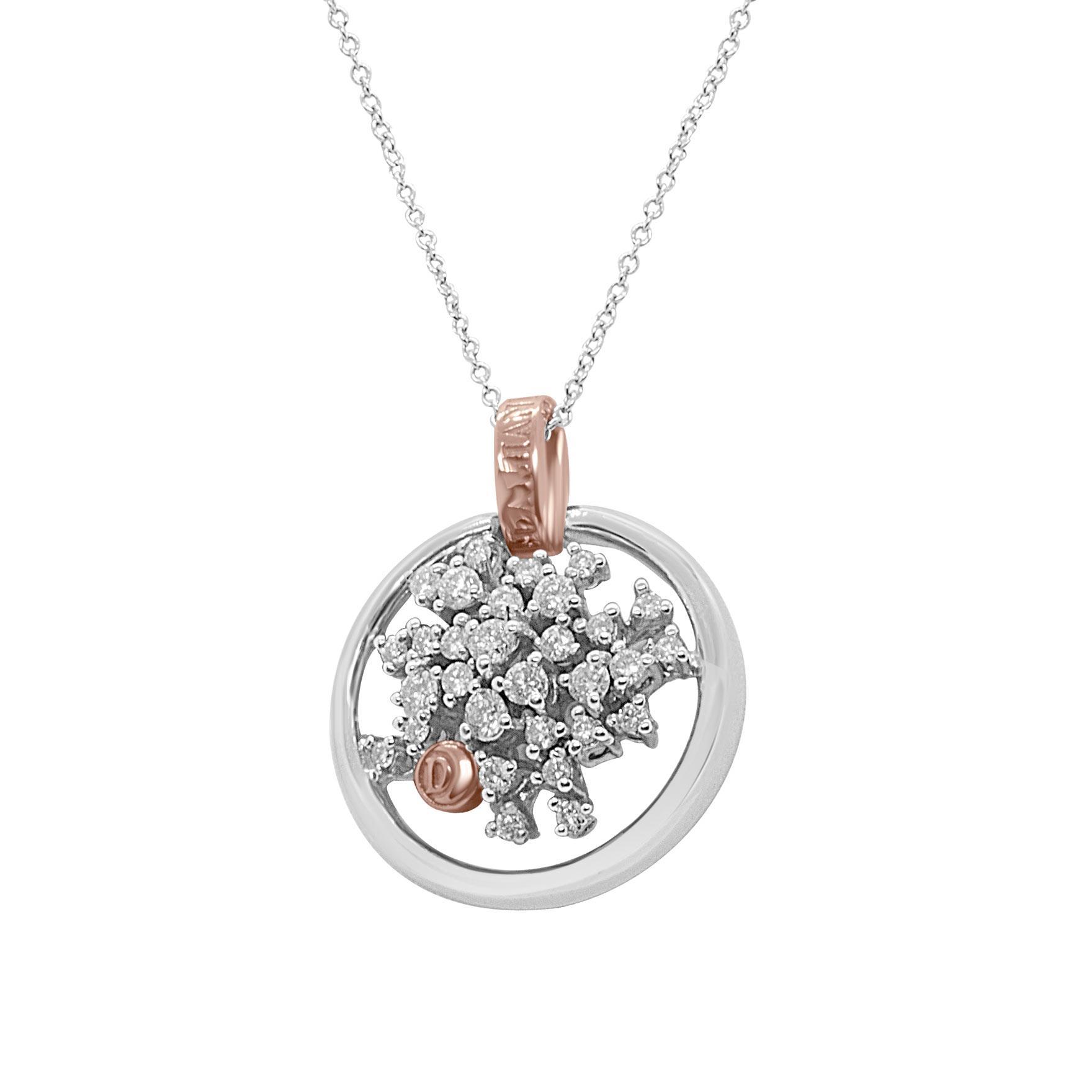 Collier Damiani in oro bianco e oro rosa con diamanti ct 0,55 colore H - DAMIANI