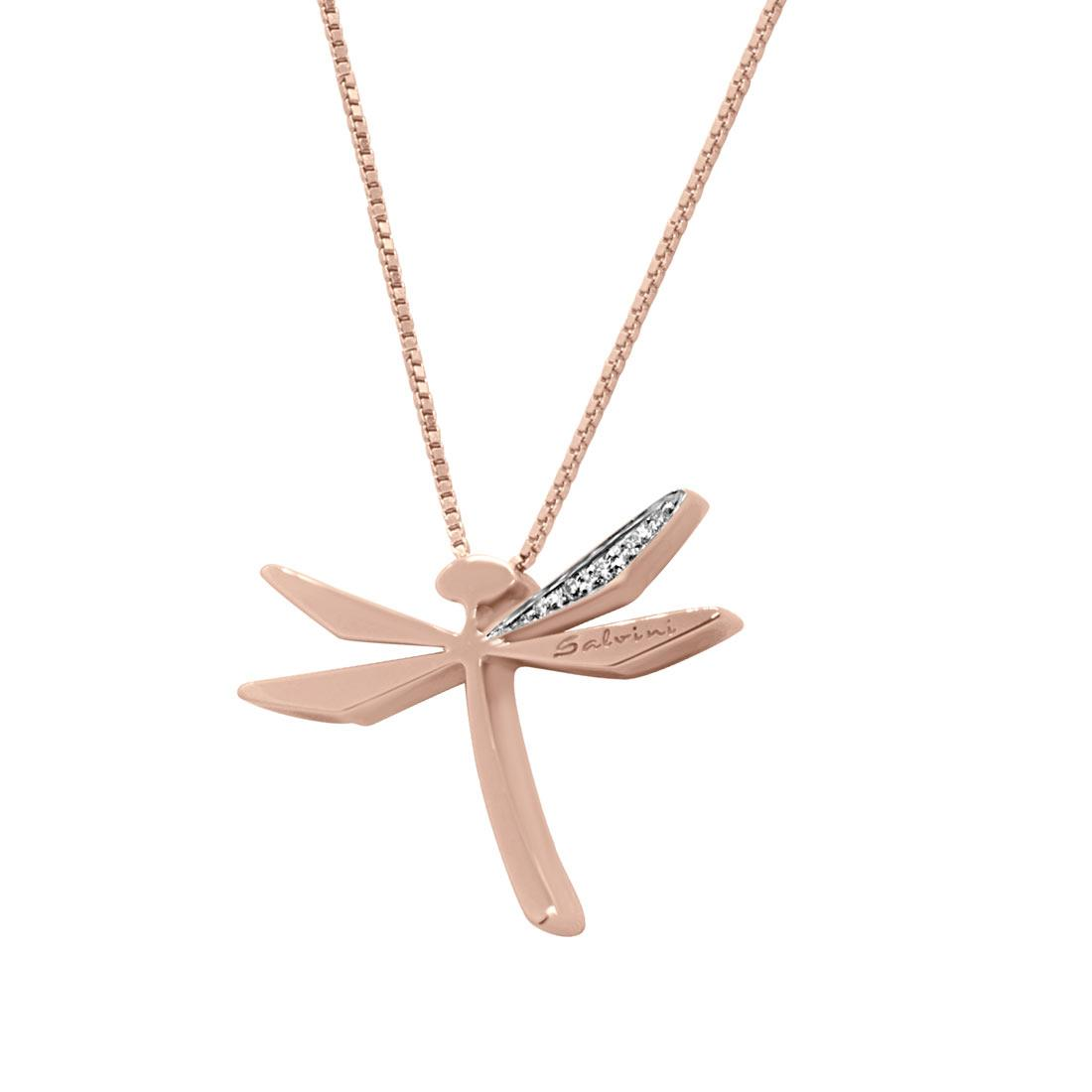 Collier Salvini oro rosa con diamanti - SALVINI