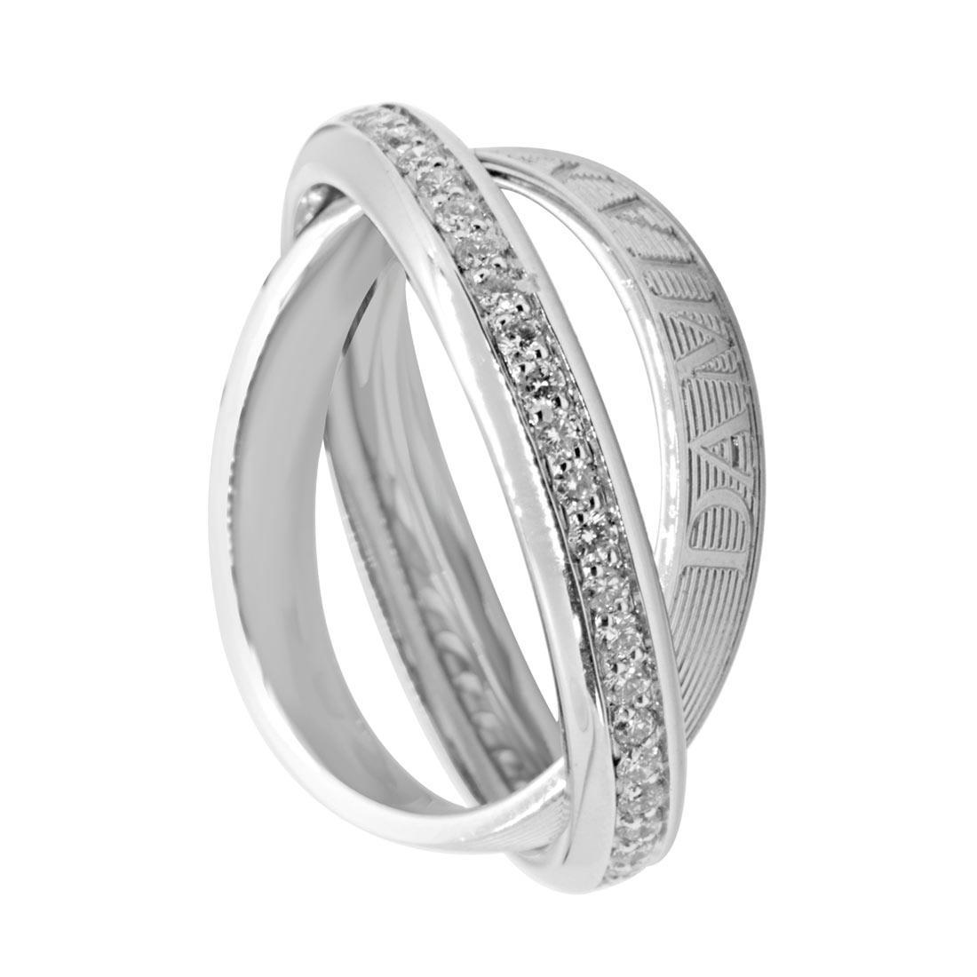 Anello Damiani in oro bianco con diamanti ct 0,48 colore H - DAMIANI