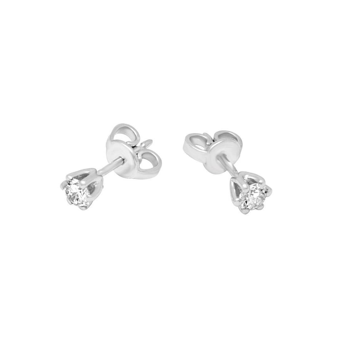 Orecchini Alfieri & St john in oro bianco con diamanti ct 0,40 - ALFIERI & ST. JOHN