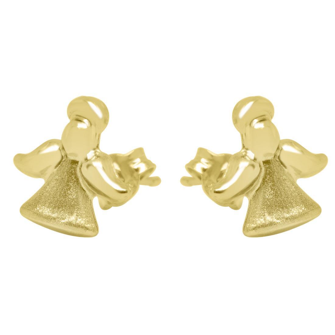 Orecchini in oro giallo design angioletti - ORO&CO