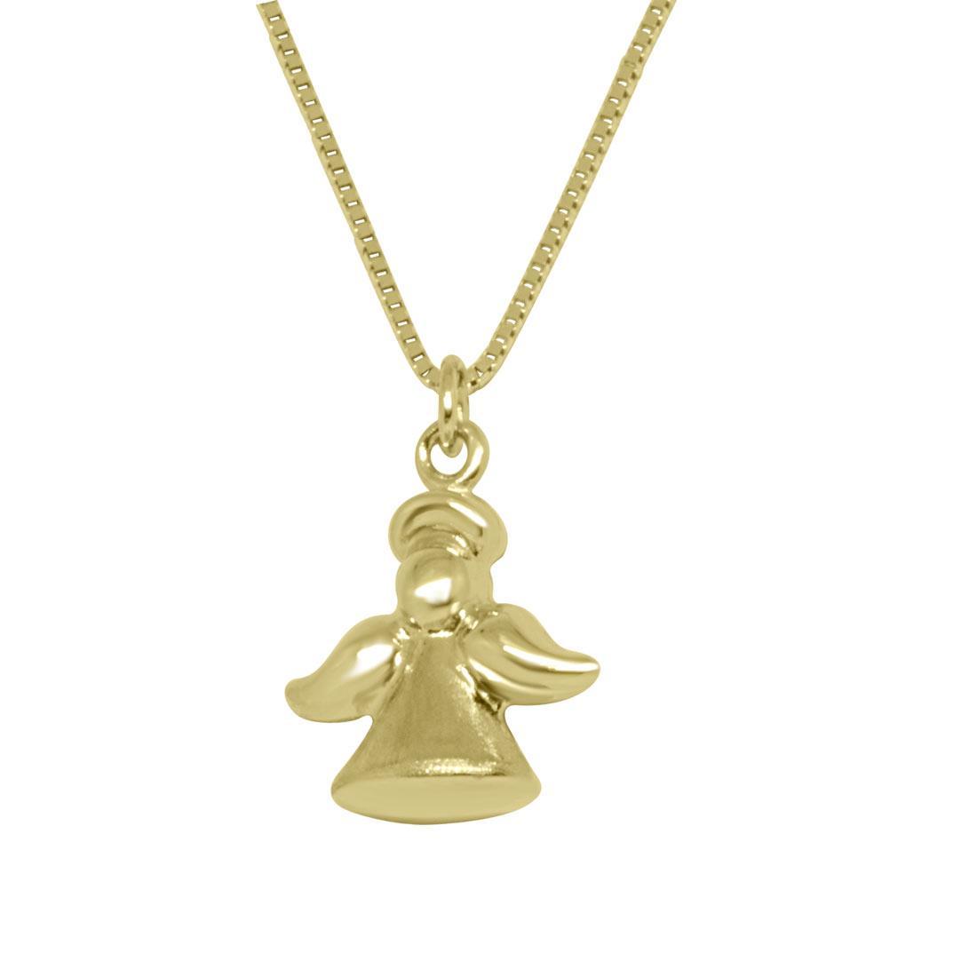 Collana in oro giallo con pendente angioletto - ORO&CO
