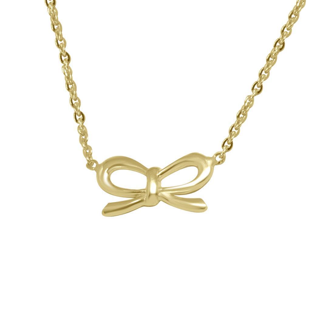 Collana in oro giallo, pendente fiocco - ORO&CO