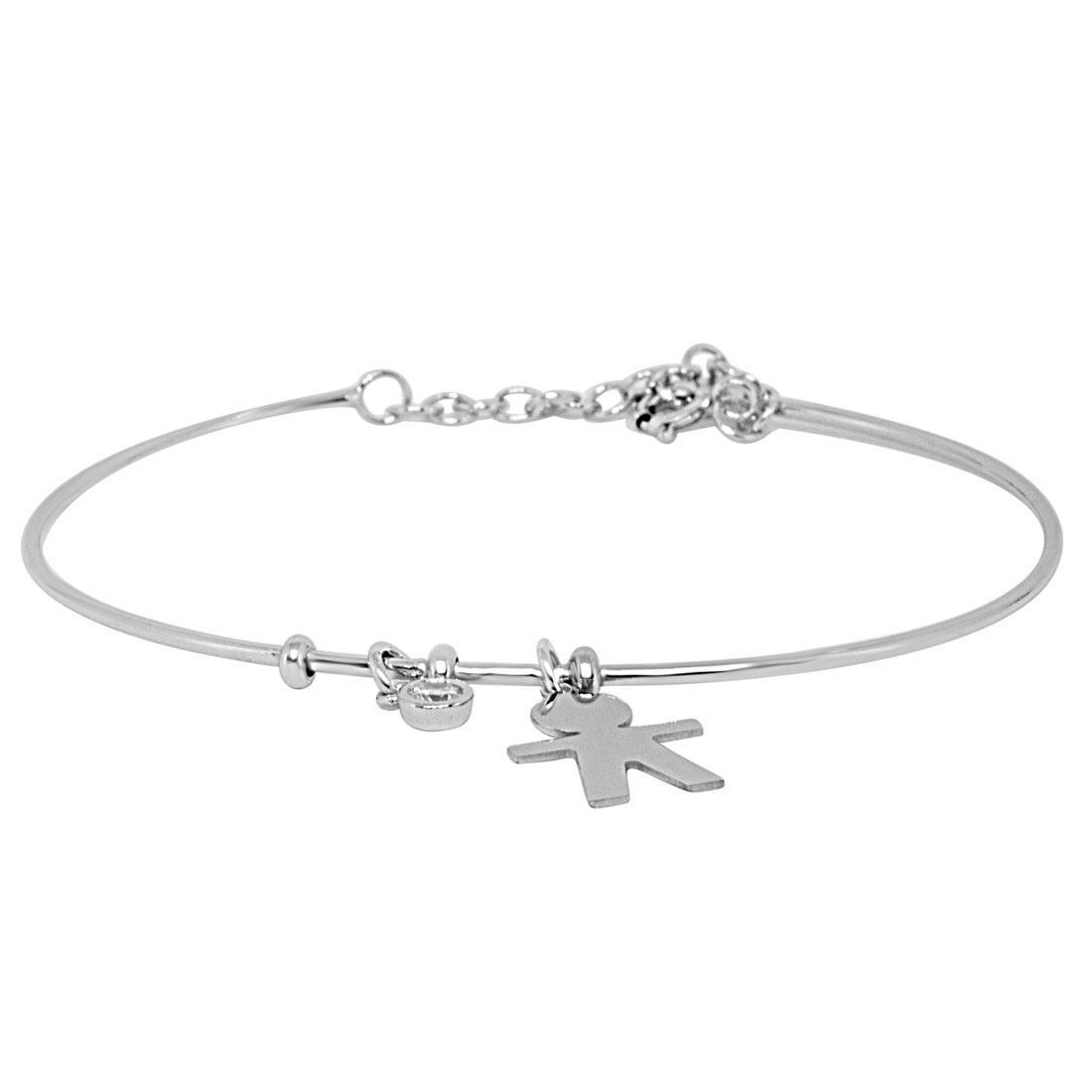 Bracciale in argento rodiato - ORO&CO