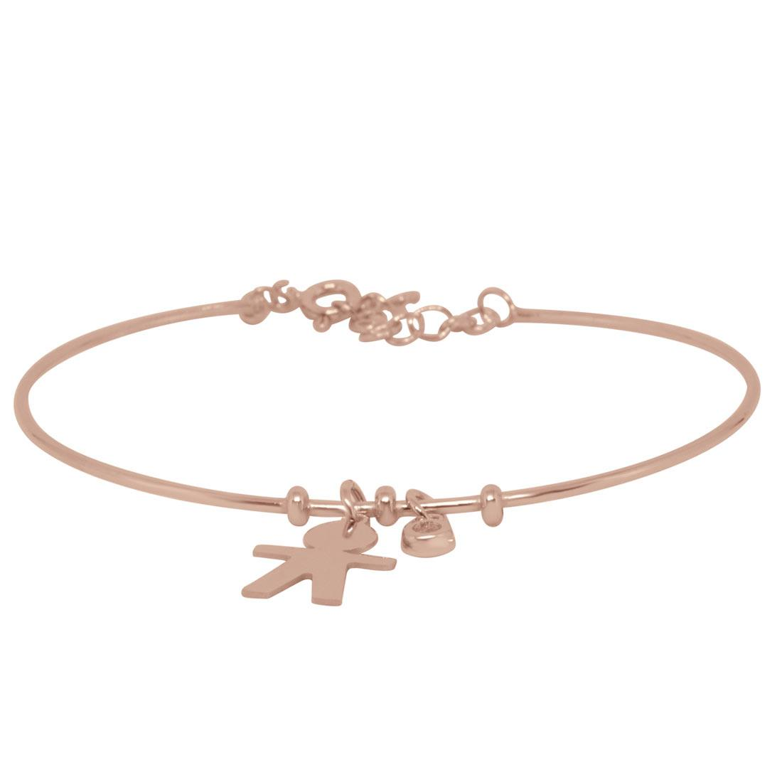 Bracciale in argento rosato  - ORO&CO 925