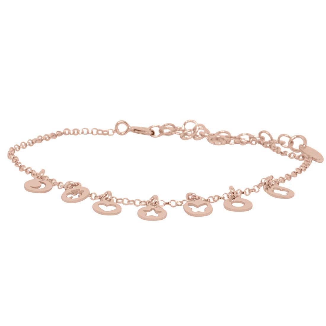 Bracciale in argento rosato  - ORO&CO