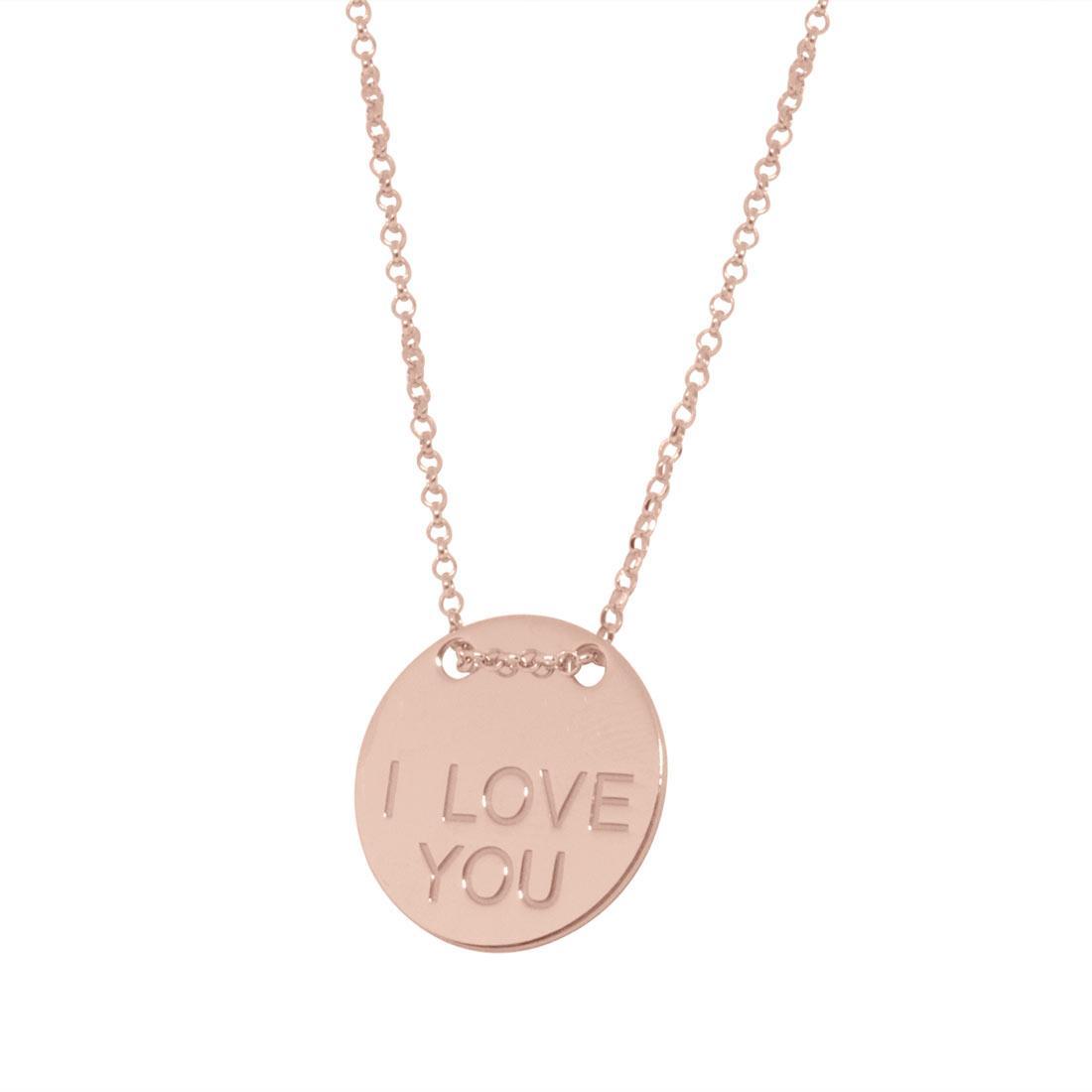 Collana in argento rosato con pendente - ORO&CO