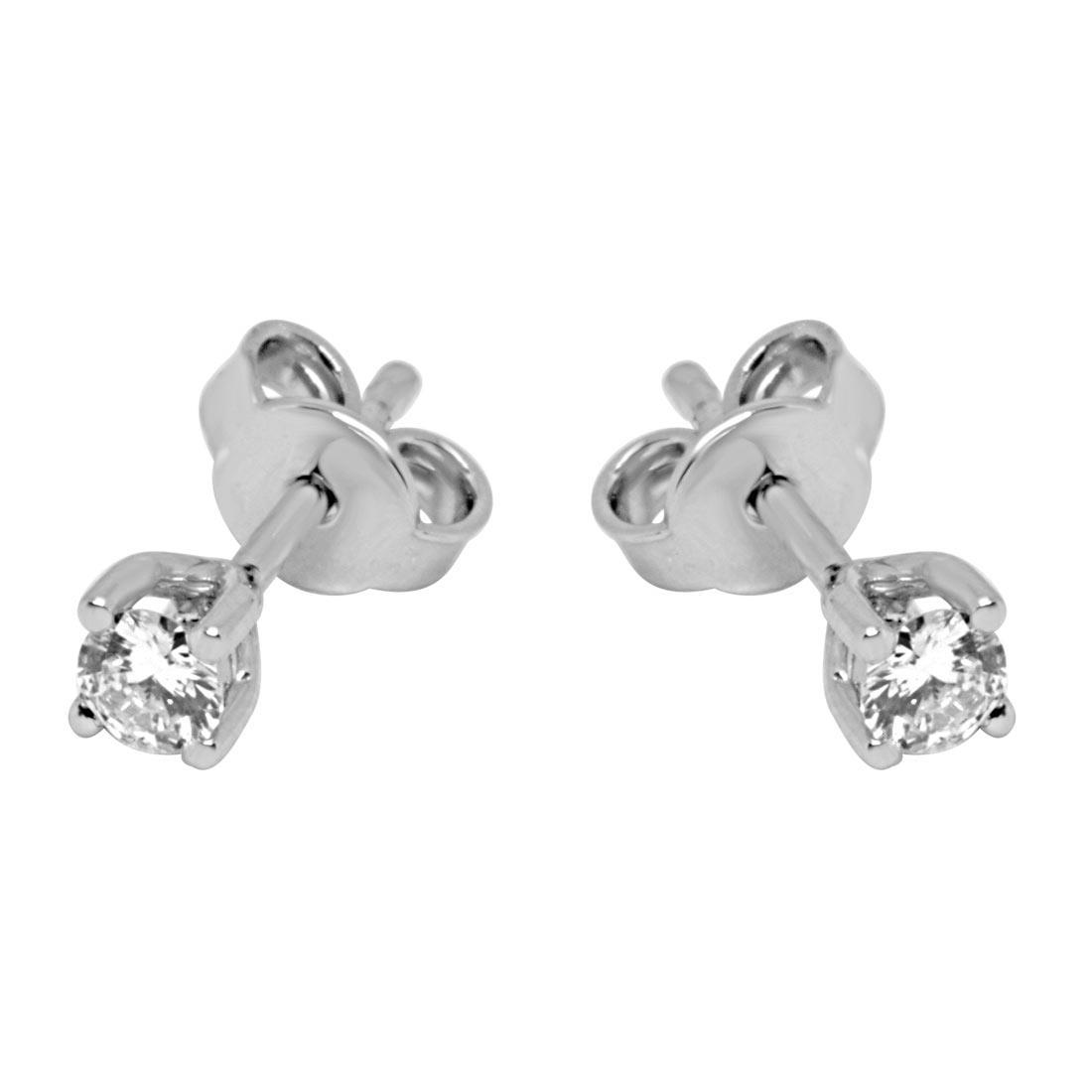 Orecchini Oro& co in oro bianco con diamanti ct 0,35 - ORO&CO