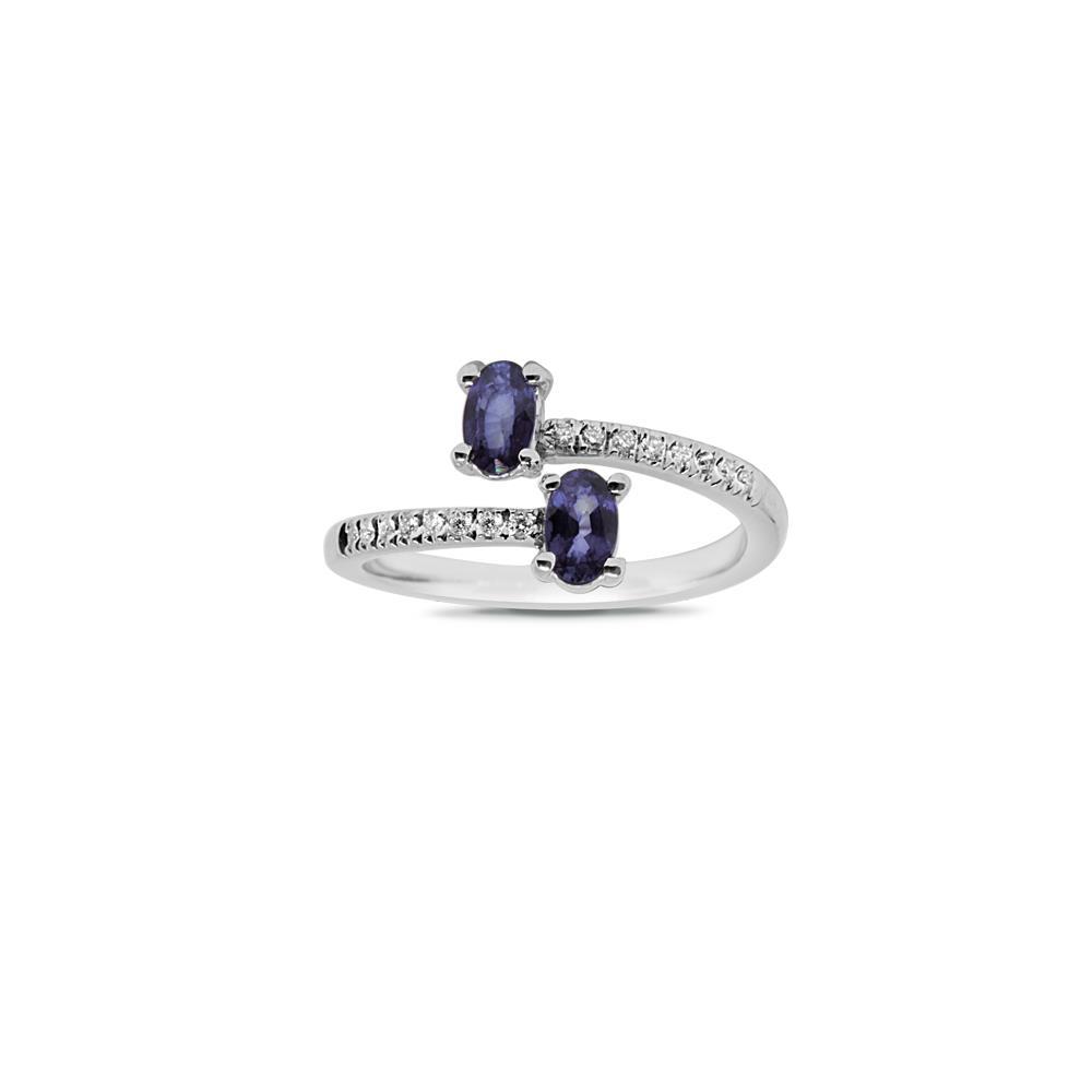 Anello contrariè con zaffiri e diamanti - ALFIERI & ST. JOHN