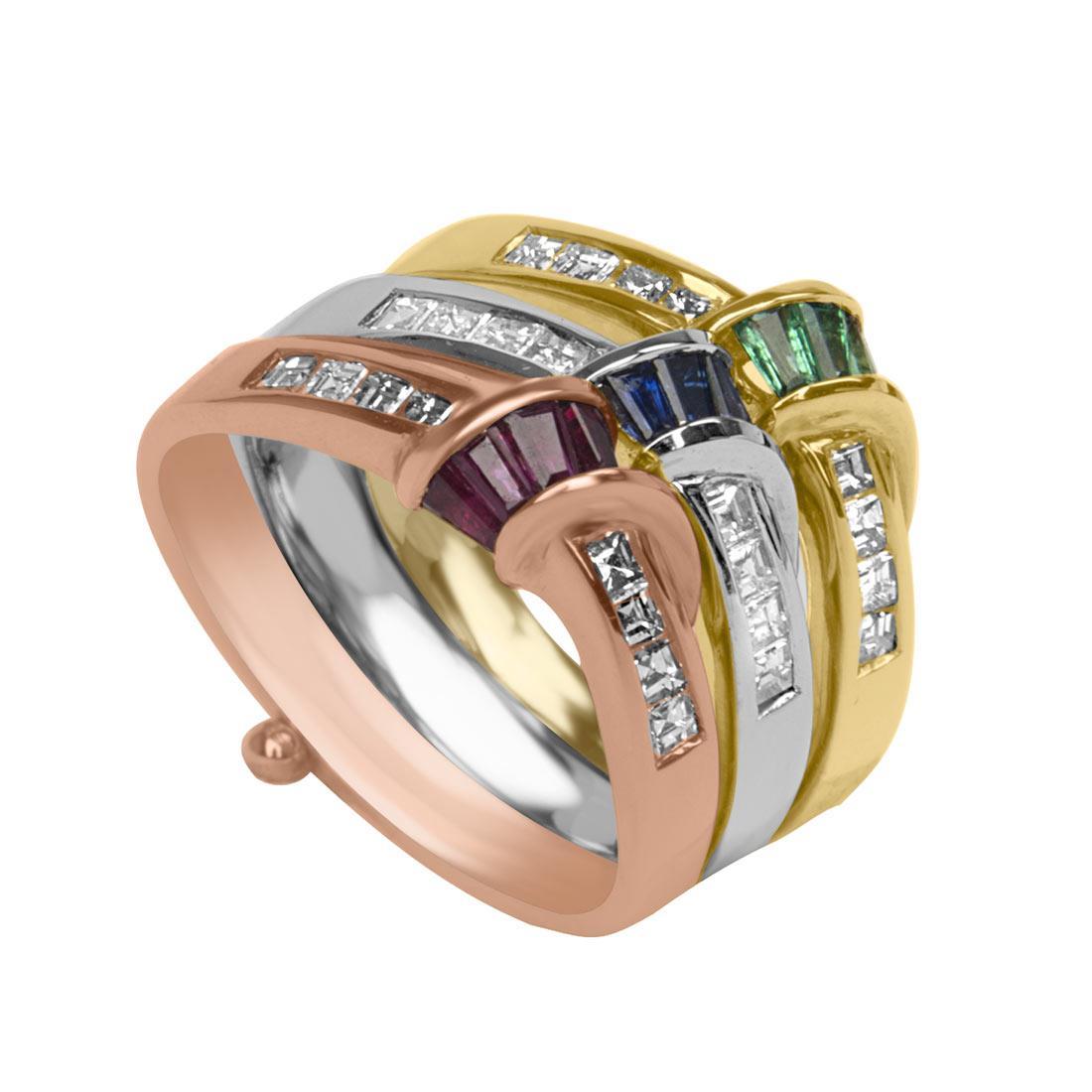 Anello Oro & Co in oro bianco e oro giallo e oro rosa con diamanti ct 0,70 - ORO&CO