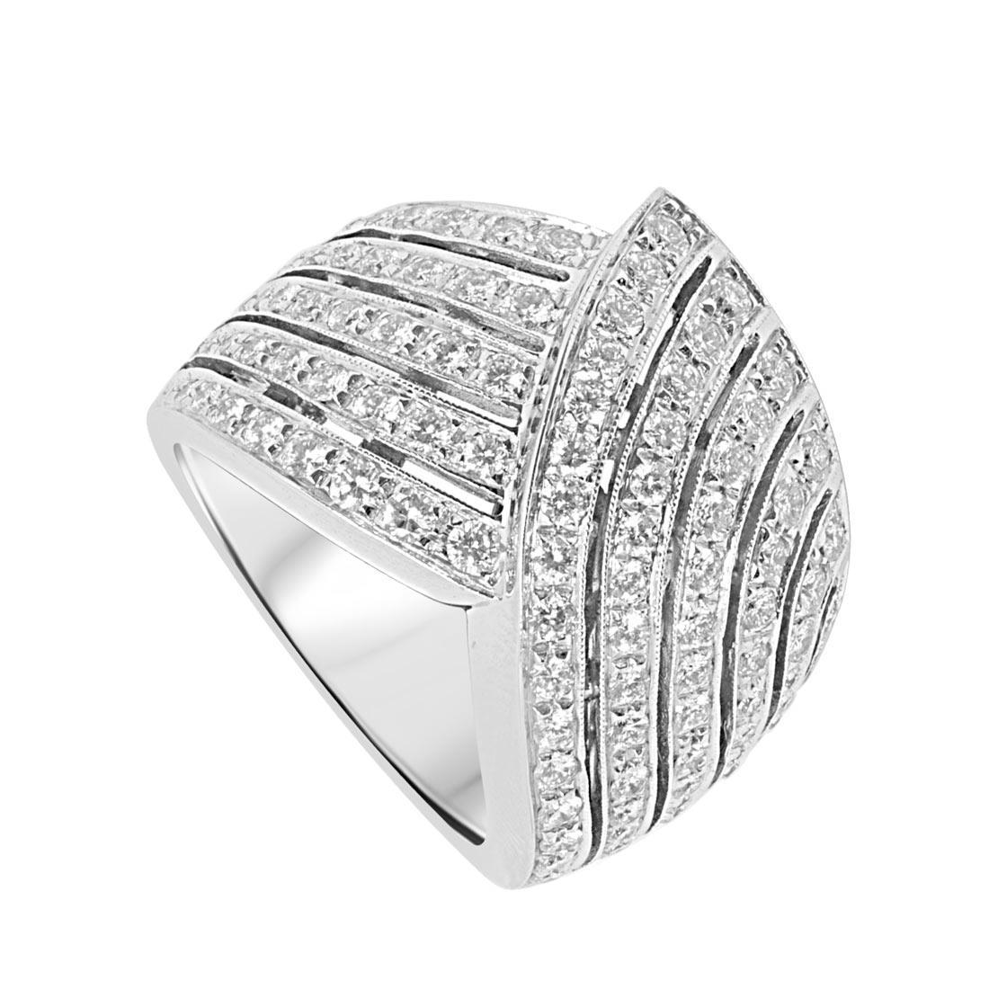 Anello Oro & Co in oro bianco e diamanti ct 1.47, misura 16 - ORO&CO