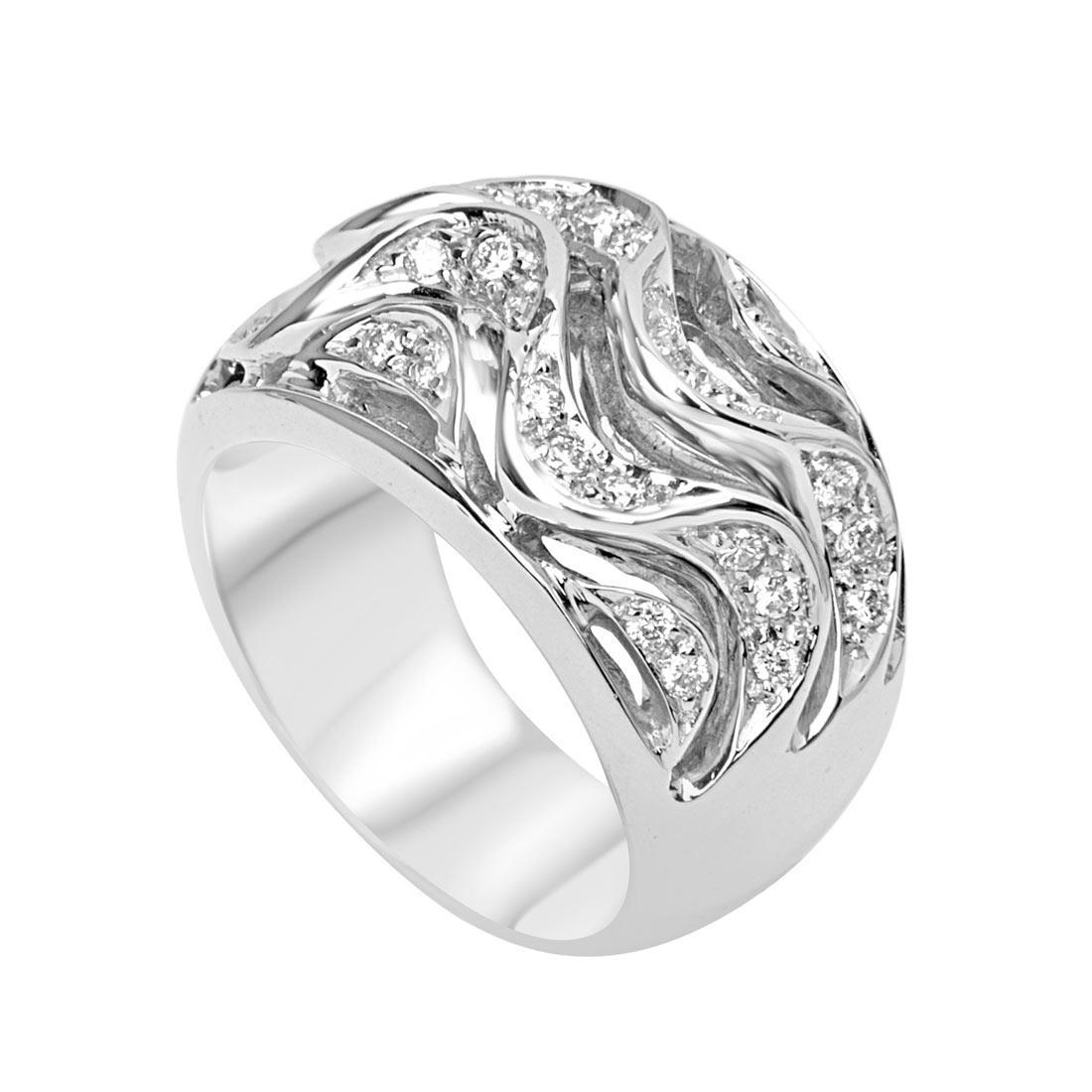 Anello in oro bianco con diamanti ct 1.38 mis 15 - ORO&CO