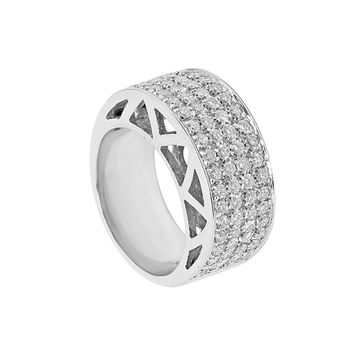 Anello Oro & Co in oro bianco con diamanti 1.51 ct, misura 14 - ORO&CO