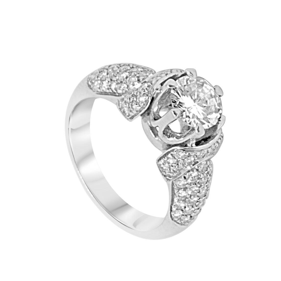Anello Oro & Co in oro bianco con diamanti 1.85 ct, misura 14 - ORO&CO