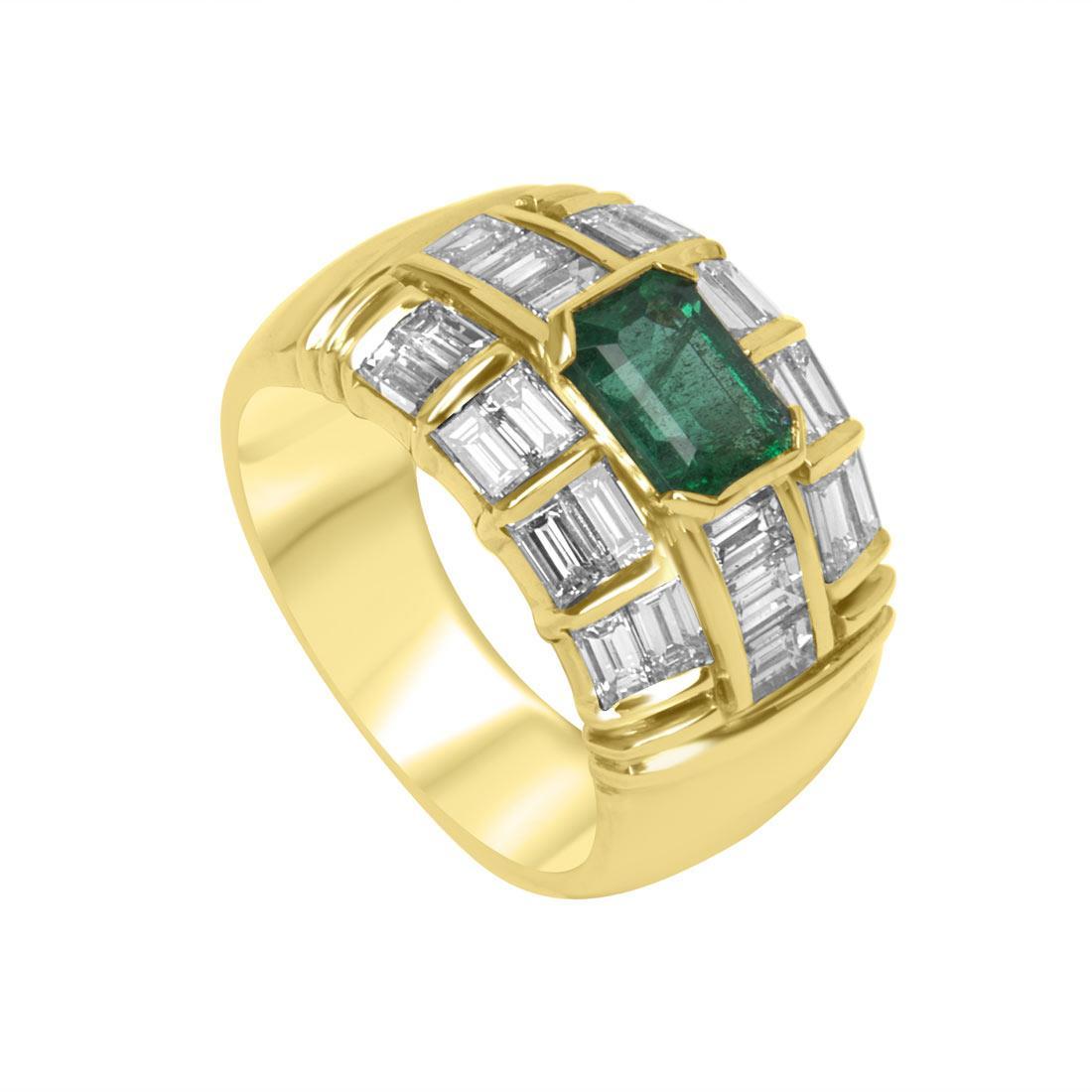 Anello Oro & Co in oro giallo con diamanti 2.13 ct e smeraldo mis 16 - ORO&CO