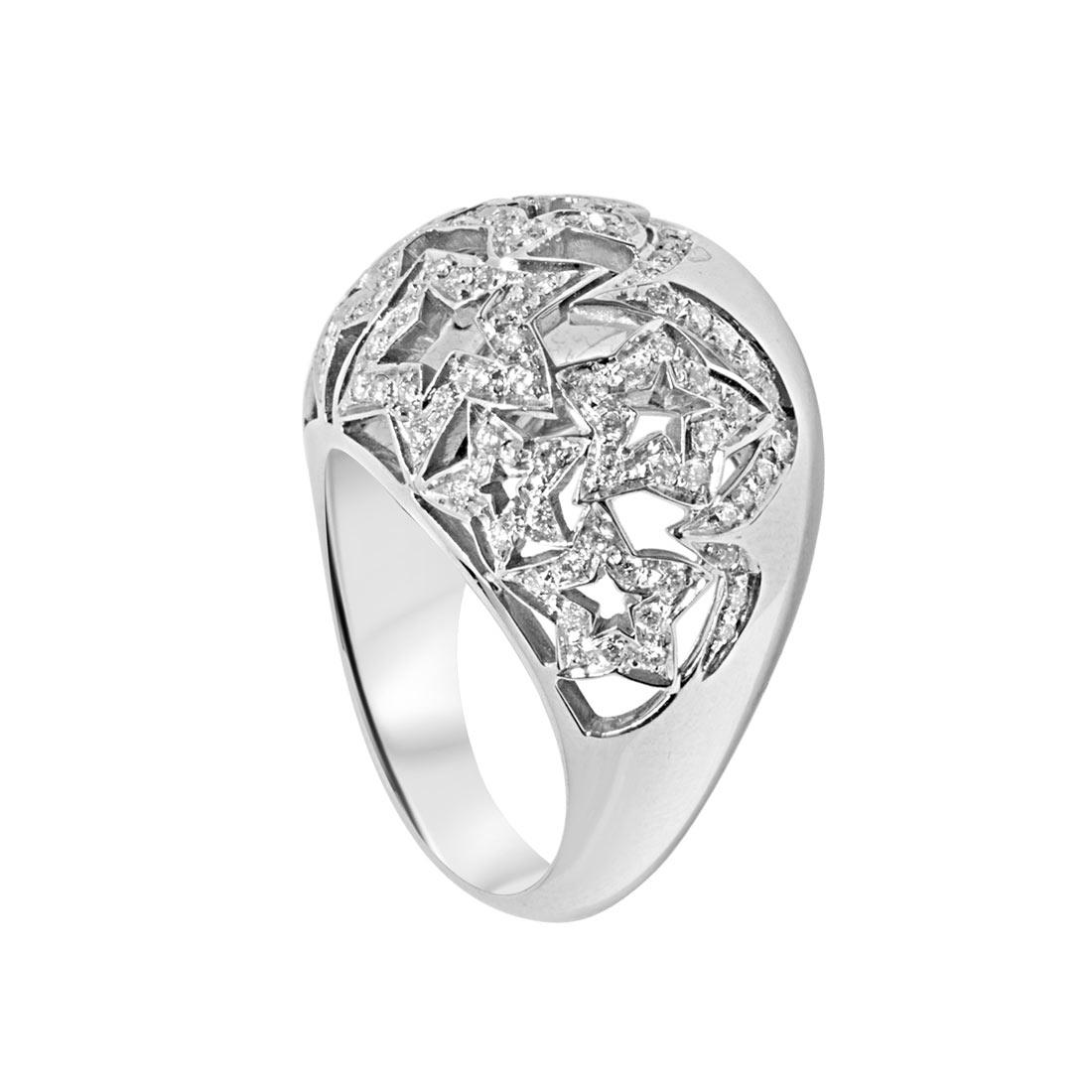 Anello Oro& Co in oro bianco e diamanti ct 0,63 misura 15 - ORO&CO