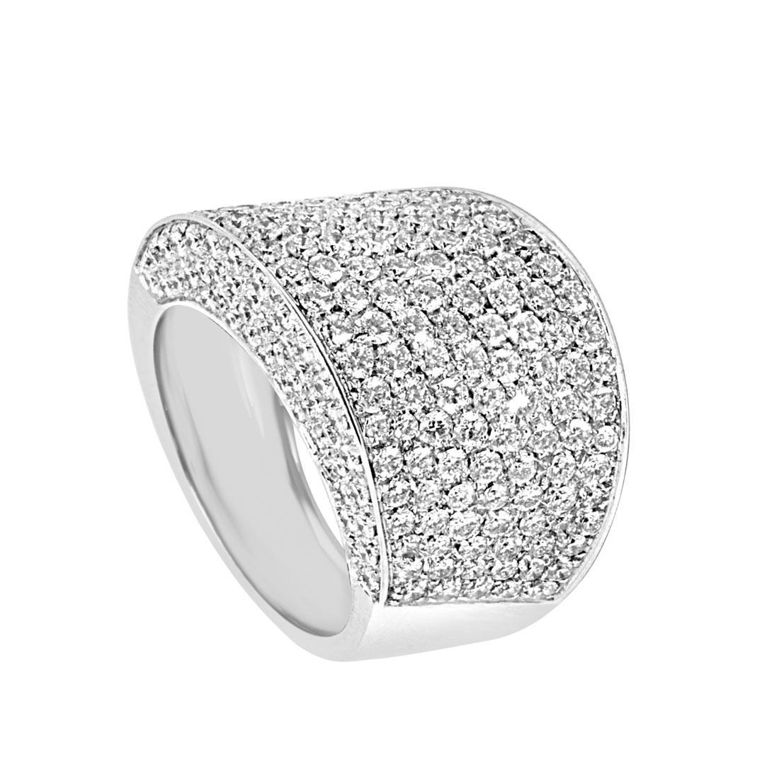 Anello in oro bianco con diamanti ct 3.50 misura 15 - ORO&CO