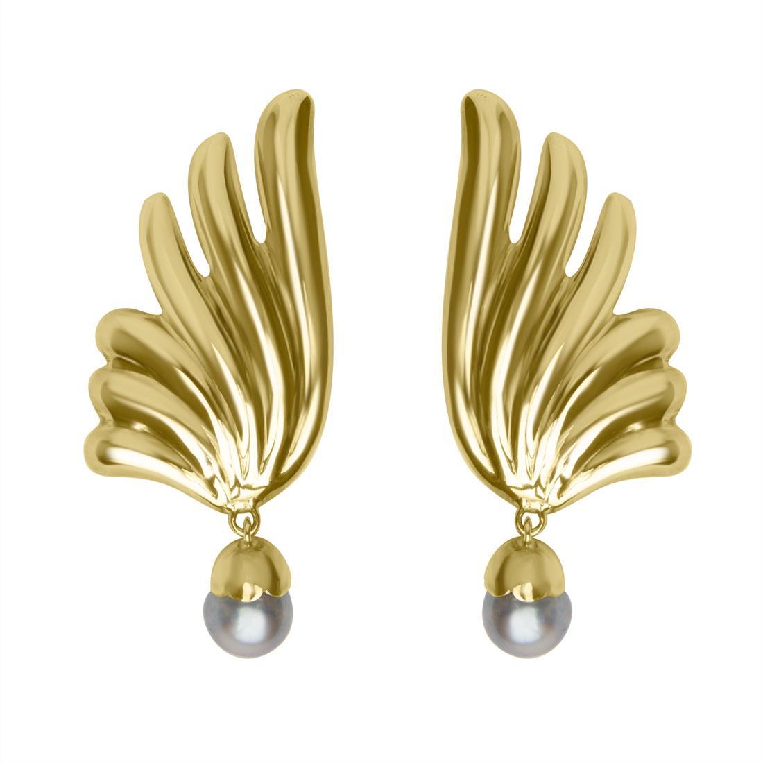 Orecchini Oro & Co in oro giallo con perla - ORO&CO
