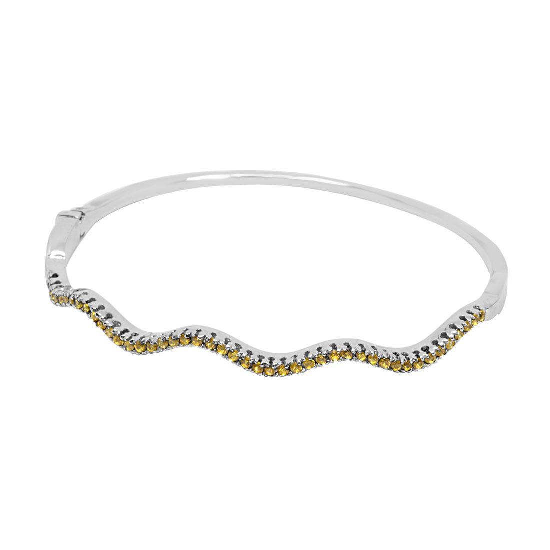 Bracciale rigido in oro bianco con zaffiri - ORO&CO