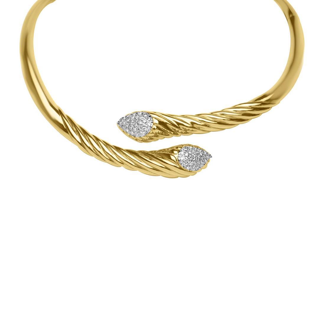 Collana in oro giallo con diamanti ct 1.89 - ORO&CO