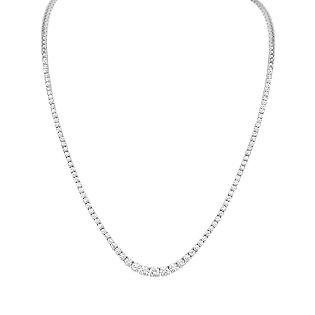 Collana in oro bianco con diamanti ct 3.90 - ORO&CO