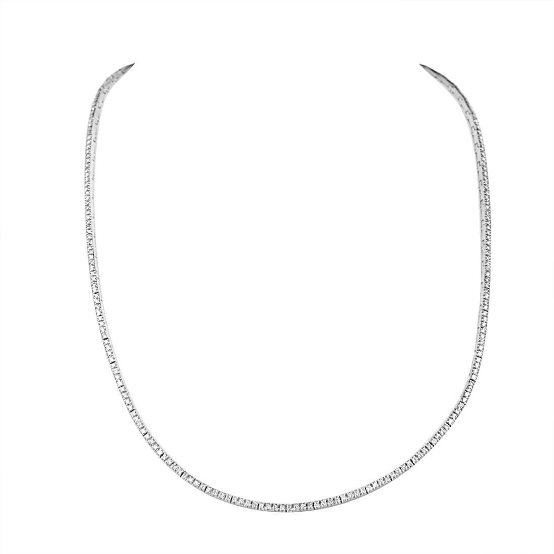Collana in oro bianco con diamanti ct 1.81 - ORO&CO