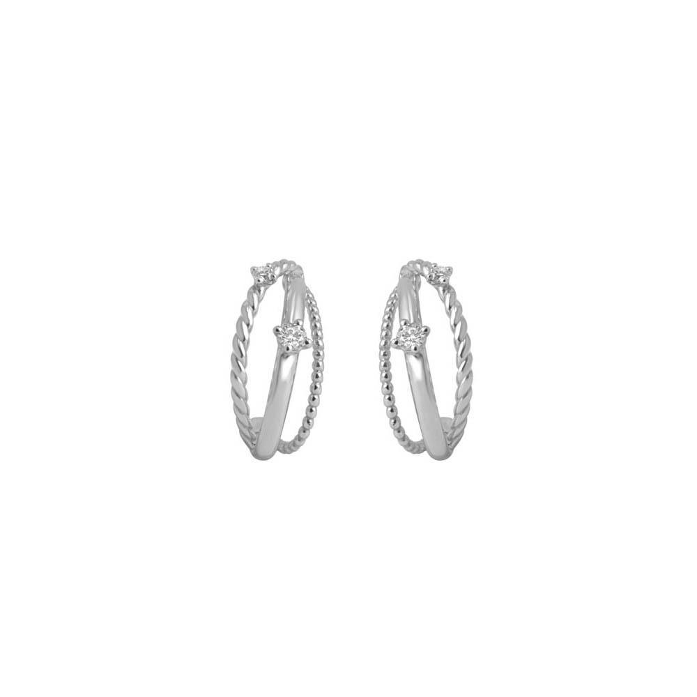 Orecchini multifilo con diamanti - ALFIERI & ST. JOHN