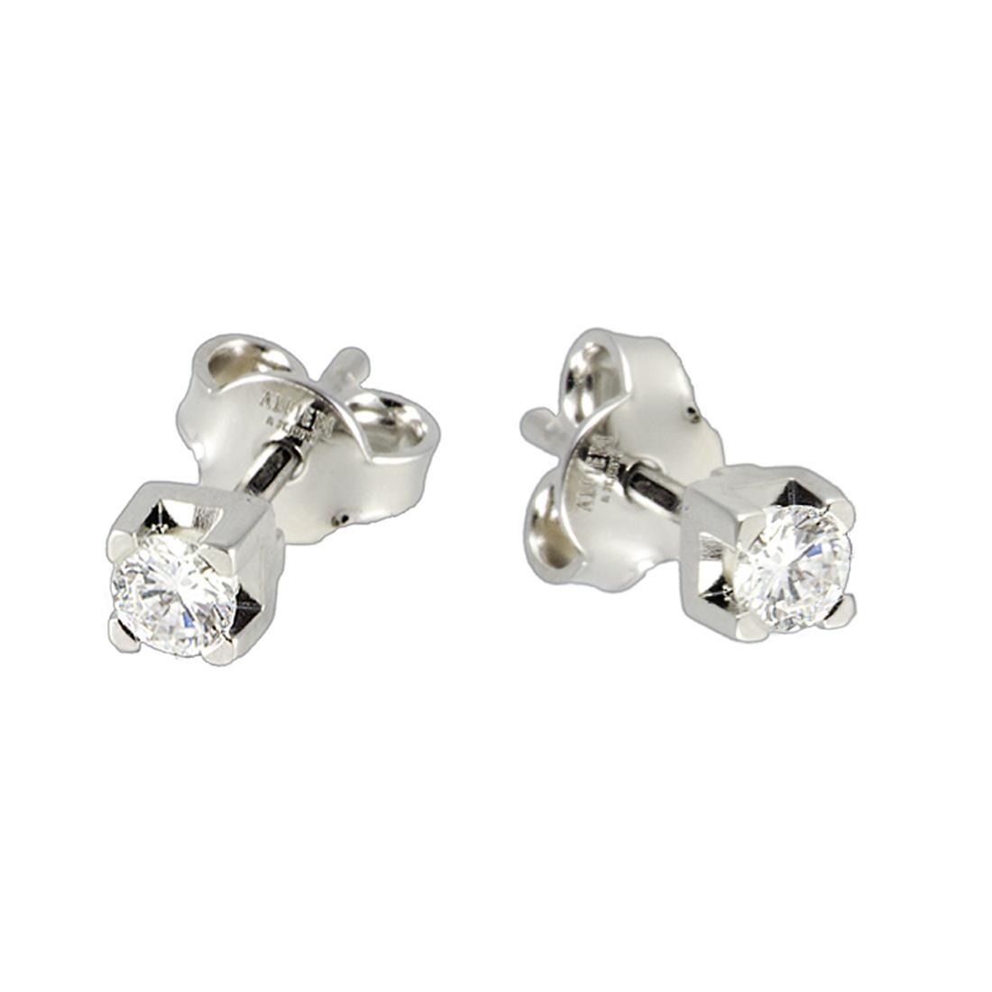 Orecchini Alfieri & St. John in oro bianco e diamanti 1.00 ct - ALFIERI ST JOHN